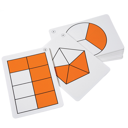 Large Fraction Flash Cards  large