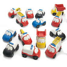 Plastic Chunky Small World Car Set 30pcs  medium