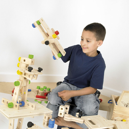 Wooden Construction Set 182pcs  large