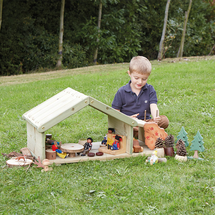 Outdoor Wooden Small World Building  large