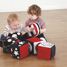 Baby Black and White Soft Cubes 6pk  medium