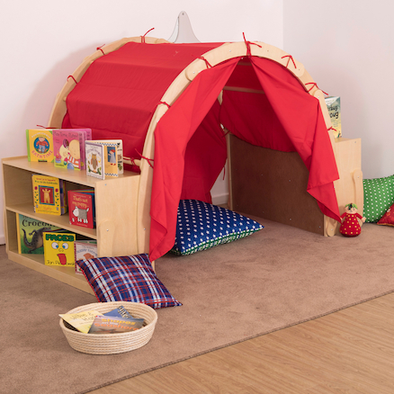 Wooden Framed Playtent with Storage  large