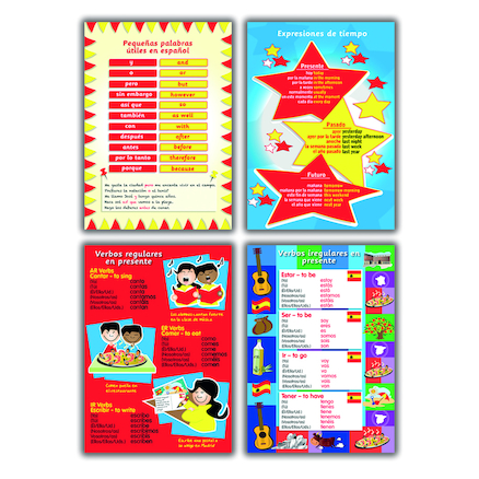 Spanish Verbs and Vocabulary Poster Set  large