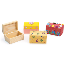 Wooden Treasure Chests 12pk  medium