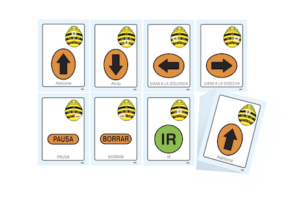 Spanish Bee\-Bot Cards  large