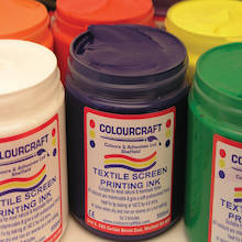Heat Fix Screen Printing Ink Assorted 500ml 6pk  medium