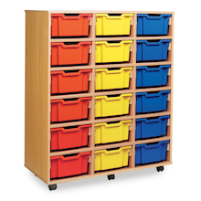 Mobile Tray Storage Unit With 18 Deep Trays  medium