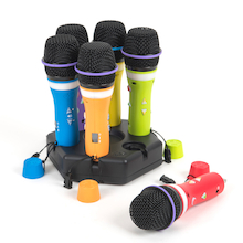Easi-Speak Bluetooth Rainbow Microphones 6pk  medium