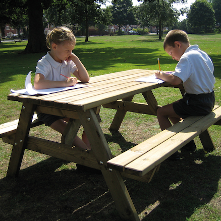 Rectangular Wooden Picnic Table  large