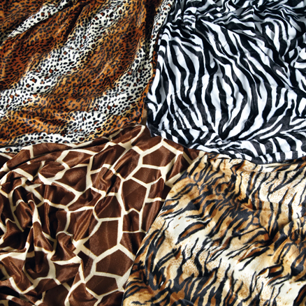 Animal Print Fabric 4pk  large