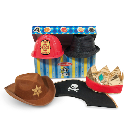 Dressing Up Role Play Box of Hats 5pcs  large
