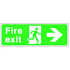Fire Exit Arrow Signs Rigid Plastic  small
