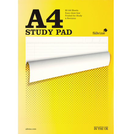 A4 Lined Study Notepad 80 Sheets 5pk  large