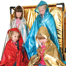 Role Play Dressing Up Glitter Cloaks 4pcs  medium