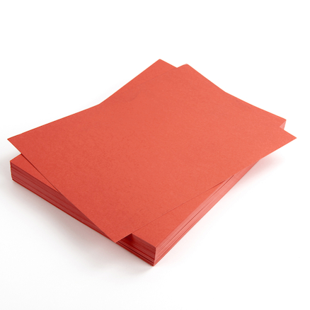A4 Red Card 280 micron 100pk  large
