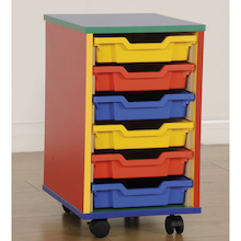 Colour My World Six Shallow Tray Storage Unit  medium