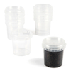 Clear Plastic Pots With Lids 10pk  small