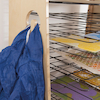 Easy Access Wooden Drying Rack and Art Station  small