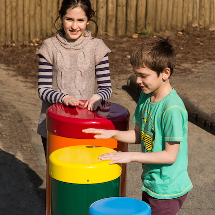 Outdoor Rainbow Samba Drums  large