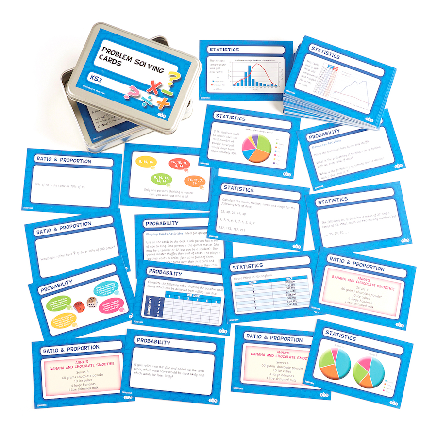 Buy ks3 problem solving activity cards 80pk tts ks3 problem solving activity cards 80pk small ccuart Gallery