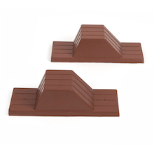 Rubber Starting Blocks Pair  medium