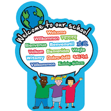 Multicultural Welcome to our School Sign  medium