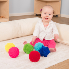 Rubbabu Baby Sensory Balls 6pk  medium