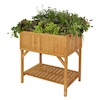 Raised Bed Planter Natural Wood H80 x W78 x D58cm  small