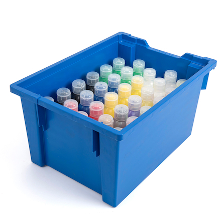 Assorted Ready Mixed Paint Tray 300ml 30pk  large