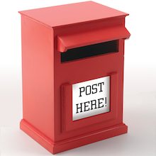 Red Post Box H31 x W20cm  medium