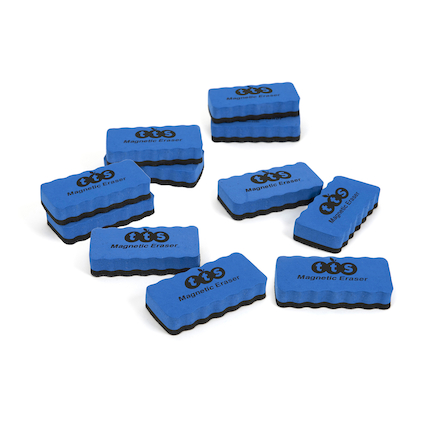 TTS Magnetic Whiteboard Erasers 10pk  large