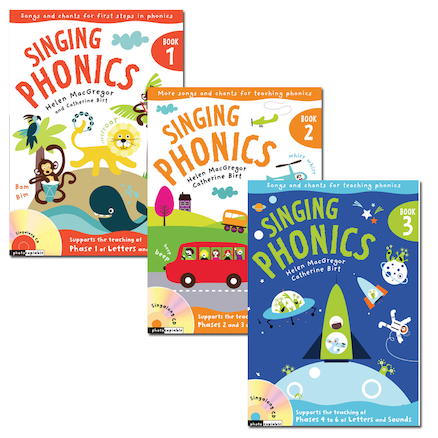 Singing Phonics Book and CD  large