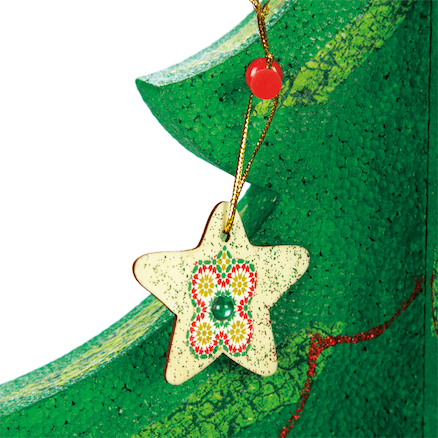 Wooden Christmas Decorations Assorted 6cm 54pk  large