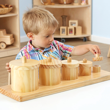 Wooden Toddler Sorting Pots  medium