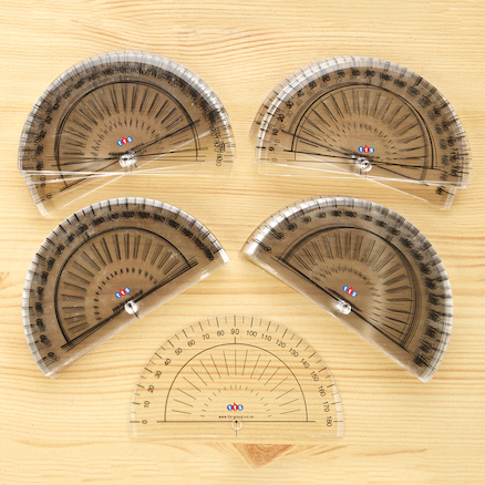 Early Stage 180 Degree Protractors  large