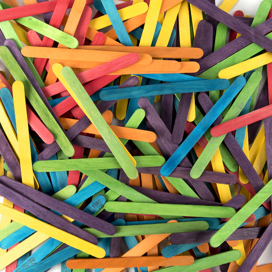 craft ideas with lolly sticks buy coloured craft lolly sticks tts 6328