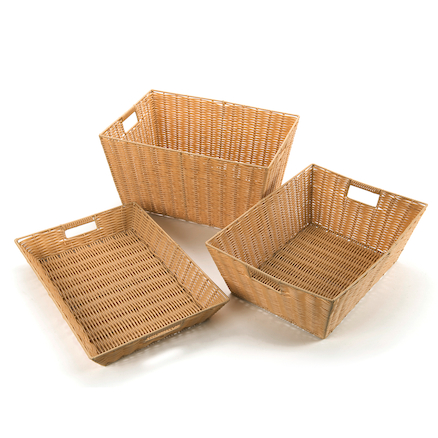 Faux Plastic Wicker Baskets  large