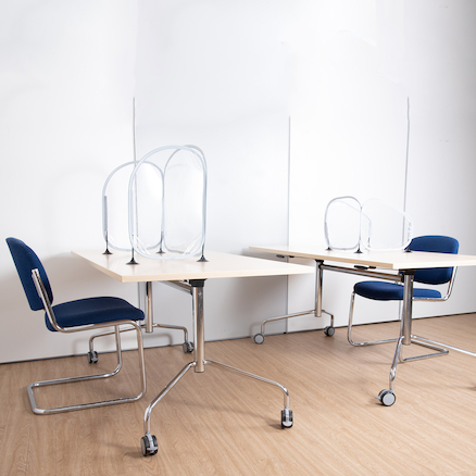 Social Distancing 3 Sided Desk Partitions 5pk  large
