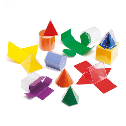 Folding Plastic Geometric Shapes 11pcs  large