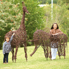 Willow Animal Sculptures  medium