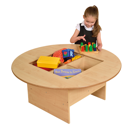 Round Table with Four Sorting Compartments  large
