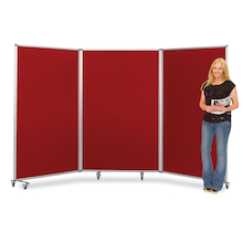 Triple Screen Mobile Partitions W360 x H180cm  medium