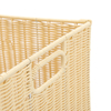 Large Faux Wicker Basket with Castors  small