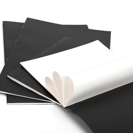 Matt Laminate Black Sketchbooks A4 40pk 120gsm  large