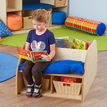 Book Story Seat with Bookcase Storage  medium