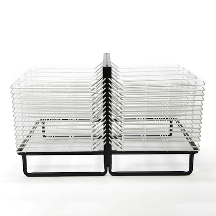 30 Shelf Spring Loaded Drying Rack  large