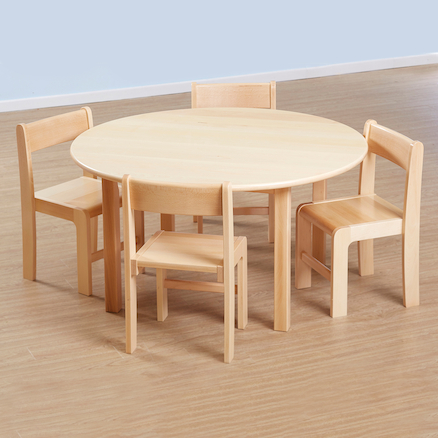 Solid Beech Circular Classroom Tables  large