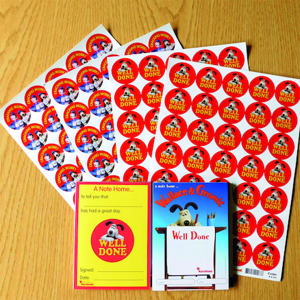 Wallace and Gromit Stickers and Certificates  large
