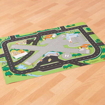Role Play Road and Airport Play Carpet  large