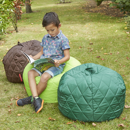 Outdoor Quilted Beanbags 4pk Natural Colours  large